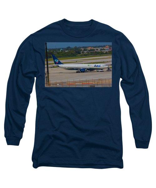 Azul Barzillian Airline Long Sleeve T-Shirt