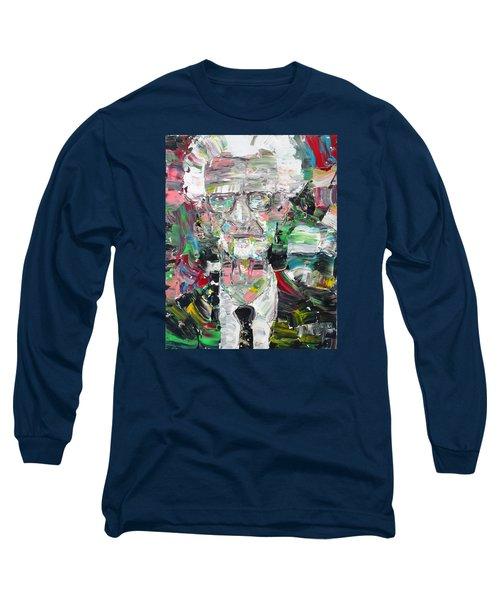 B. F. Skinner Portrait Long Sleeve T-Shirt by Fabrizio Cassetta