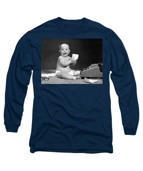 Baby Accountant, 1960s Long Sleeve T-Shirt