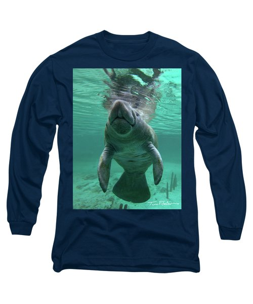 Baby Manatee Long Sleeve T-Shirt by Tim Fitzharris