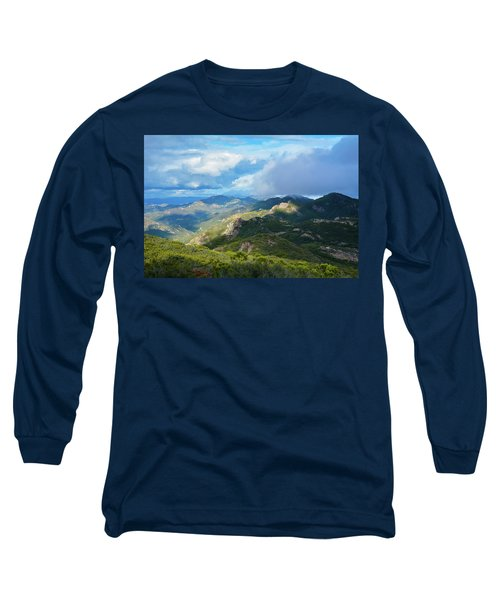 Backbone Trail Santa Monica Mountains Long Sleeve T-Shirt