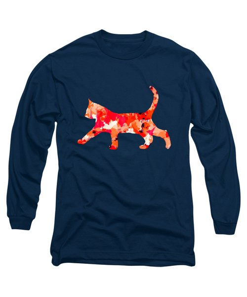 Background Colour Choice Cat Long Sleeve T-Shirt by Barbara Moignard