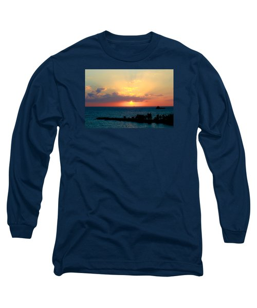 Bahamas Sunset Long Sleeve T-Shirt