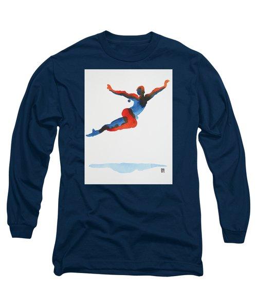 Ballet Dancer 1 Flying Long Sleeve T-Shirt by Shungaboy X