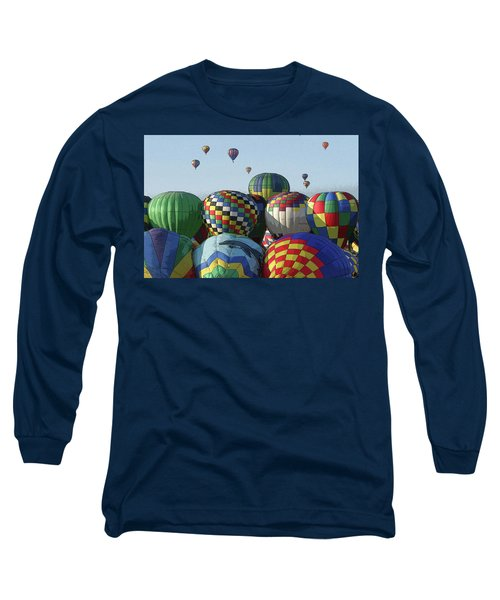 Long Sleeve T-Shirt featuring the photograph Balloon Traffic Jam by Marie Leslie