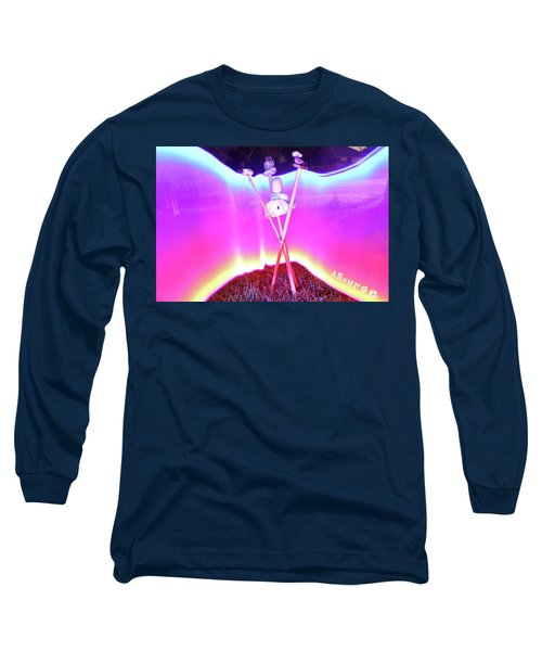 Bamboo And Stones Long Sleeve T-Shirt by Andrew Nourse