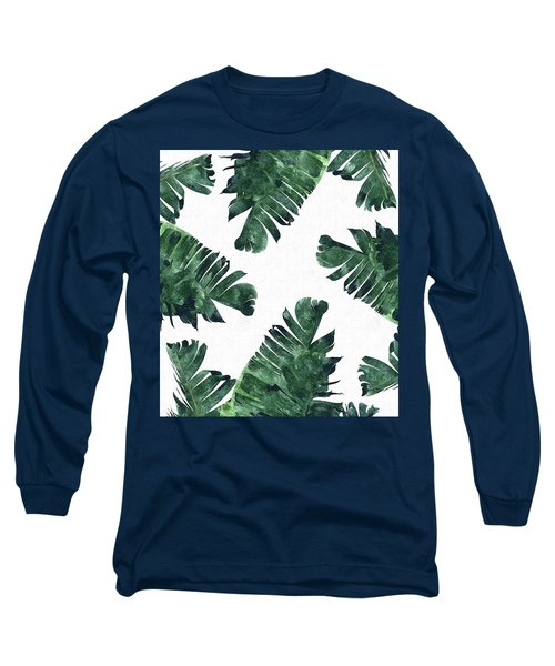 Banan Leaf Watercolor Long Sleeve T-Shirt