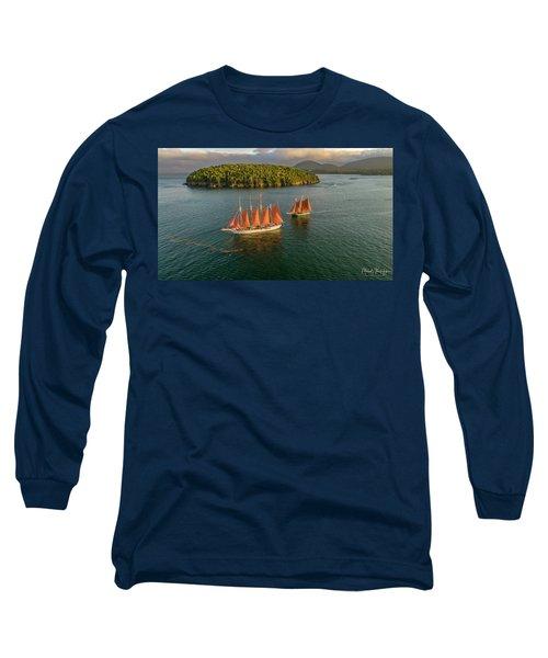 Sailing Thru Life The Downeast Way Long Sleeve T-Shirt