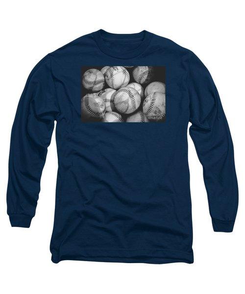Baseballs In Black And White Long Sleeve T-Shirt
