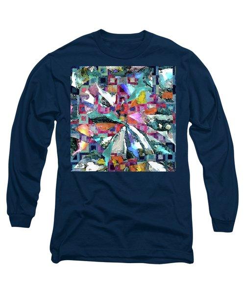 Batik Overlay Long Sleeve T-Shirt