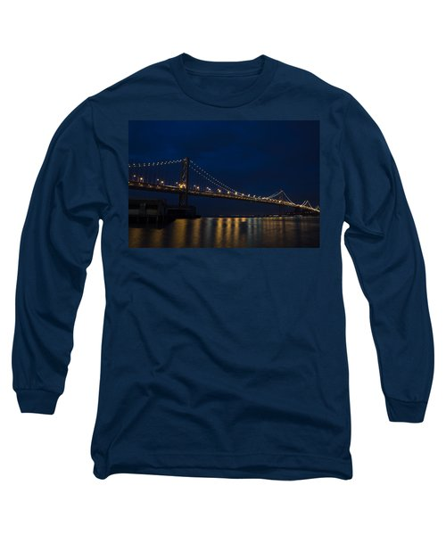 Bay Bridge At Night Long Sleeve T-Shirt