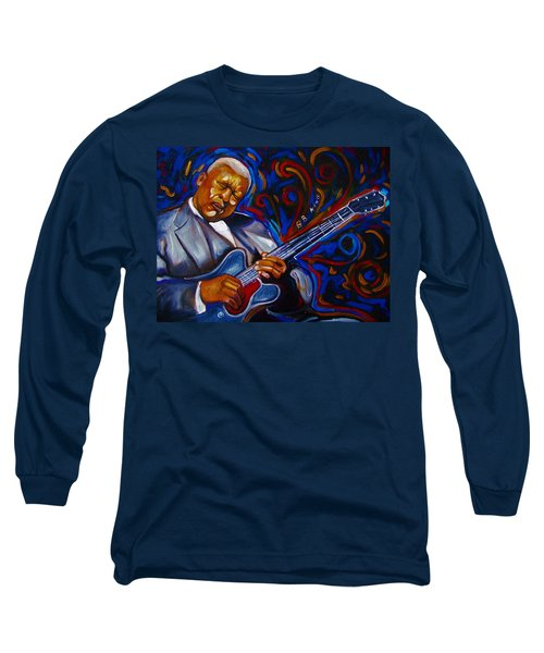 Long Sleeve T-Shirt featuring the painting b.b KING by Emery Franklin