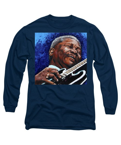Bb King Long Sleeve T-Shirt by John Lautermilch