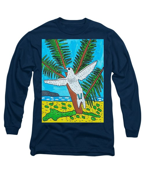 Beach Bird Long Sleeve T-Shirt by Artists With Autism Inc