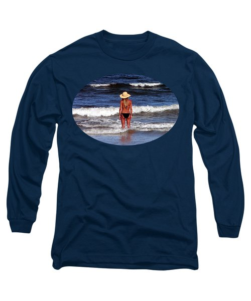 Long Sleeve T-Shirt featuring the photograph Beach Blonde .png by Al Powell Photography USA