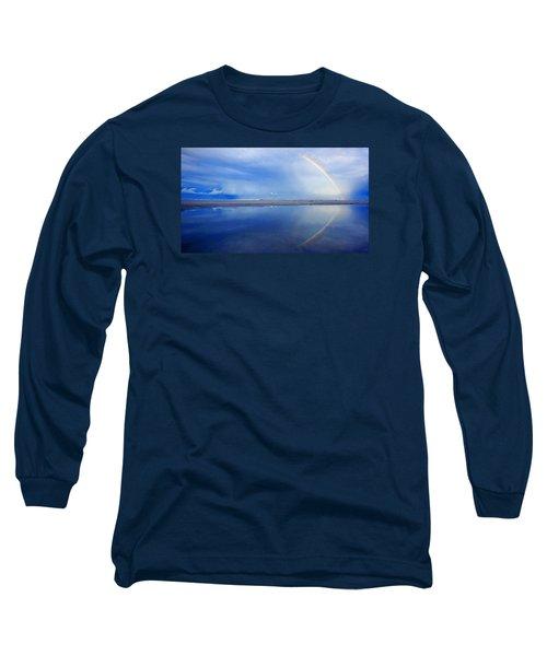 Beach Rainbow Reflection Long Sleeve T-Shirt