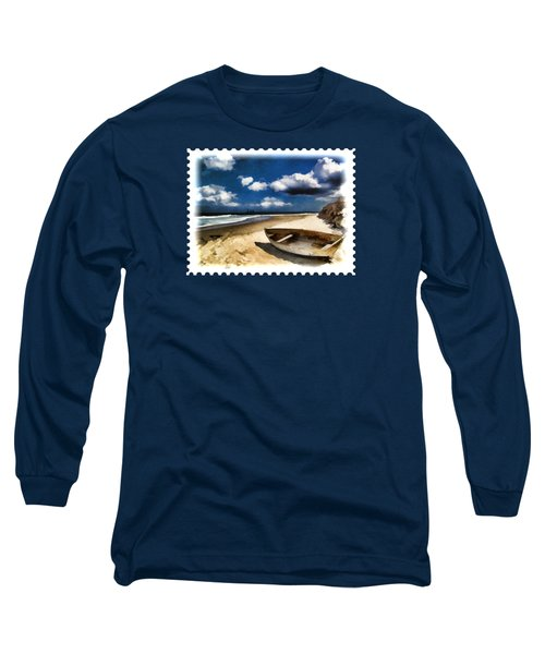 Beached Boat Before The Storm Long Sleeve T-Shirt