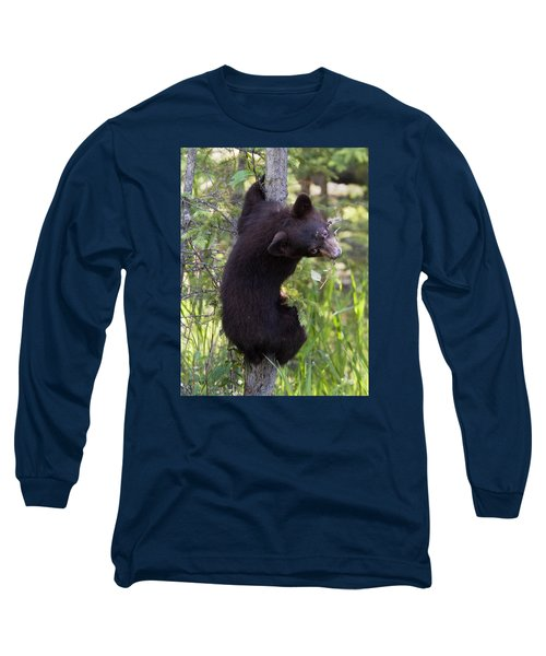 Bear Cub On Tree Long Sleeve T-Shirt