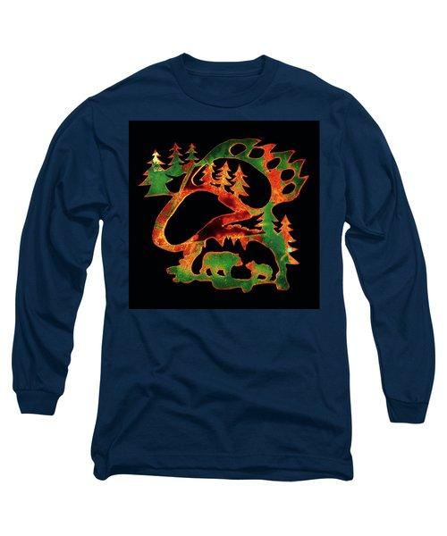 Emerald Bear Paw  Long Sleeve T-Shirt