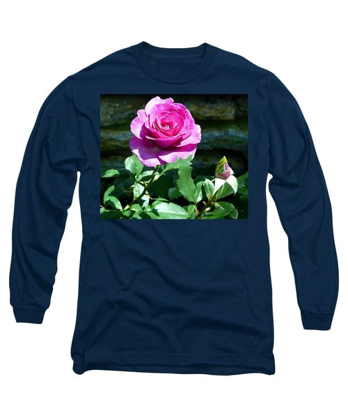 Beauty And The Bud Long Sleeve T-Shirt by Will Borden