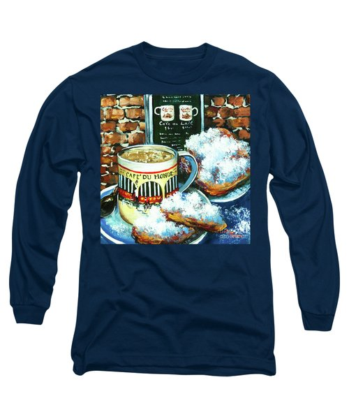 Beignets And Cafe Au Lait Long Sleeve T-Shirt