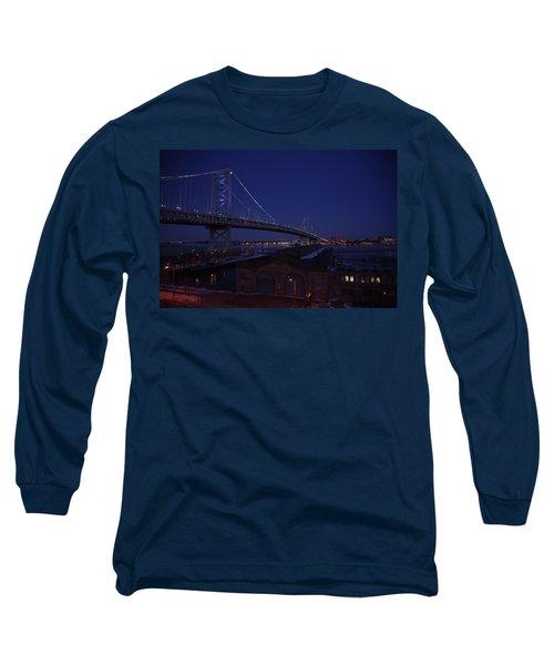 Benjamin Franklin Bridge Long Sleeve T-Shirt