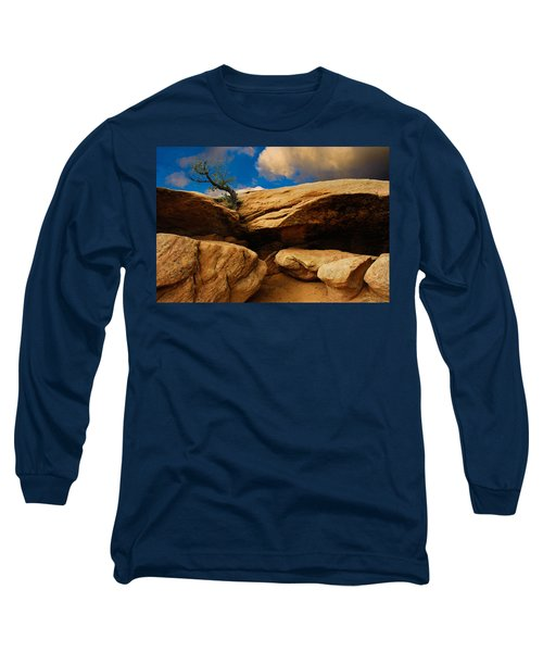 Long Sleeve T-Shirt featuring the photograph Between A Rock And A Hard Place by Harry Spitz