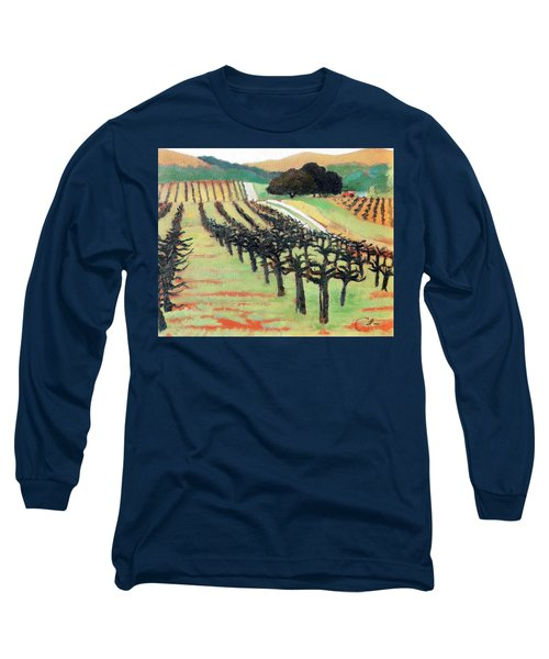 Long Sleeve T-Shirt featuring the painting Between Crops by Gary Coleman