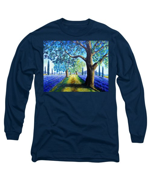 Between The Lavender Fields Long Sleeve T-Shirt