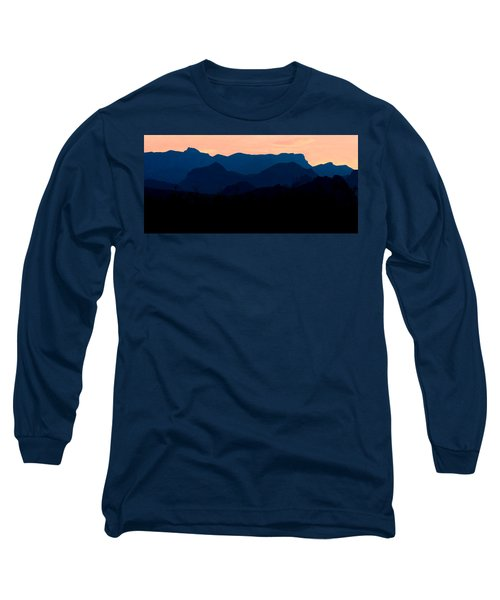 Big Bend Orange Blue Layers Long Sleeve T-Shirt