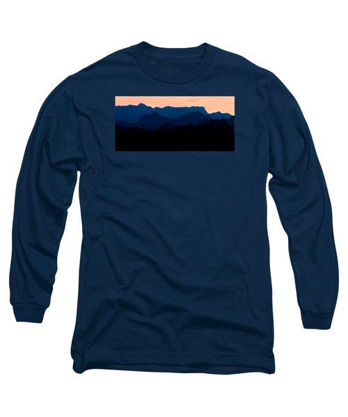 Big Bend Orange Blue Layers Long Sleeve T-Shirt