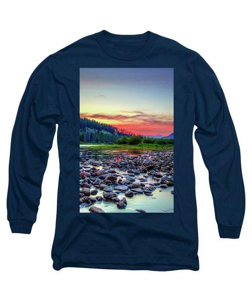 Big Hole River Sunset Long Sleeve T-Shirt