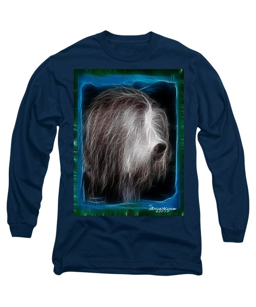 Big Shaggy Dog Long Sleeve T-Shirt by EricaMaxine  Price