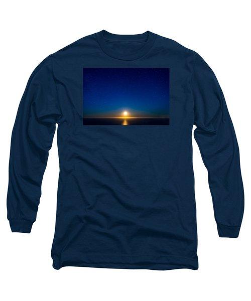Big Sur Moonset Long Sleeve T-Shirt by Derek Dean