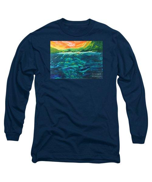 Big Tropical Wave Long Sleeve T-Shirt
