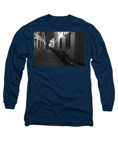 Bike Lined Alley Long Sleeve T-Shirt