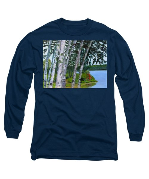 Birches At First Connecticut Lake Long Sleeve T-Shirt