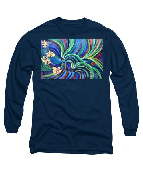 Bird Symphony With Frangipani Long Sleeve T-Shirt