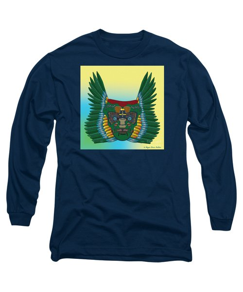 Long Sleeve T-Shirt featuring the digital art Birdman Mask by Megan Dirsa-DuBois