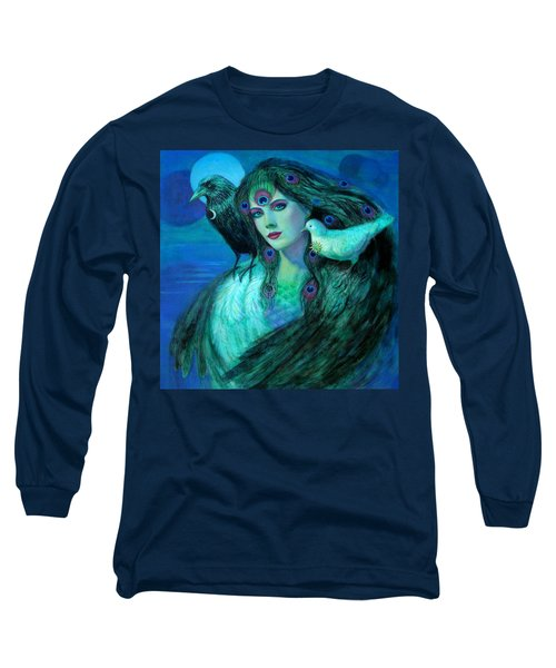 Birds Of Duality Fantasy Art Long Sleeve T-Shirt