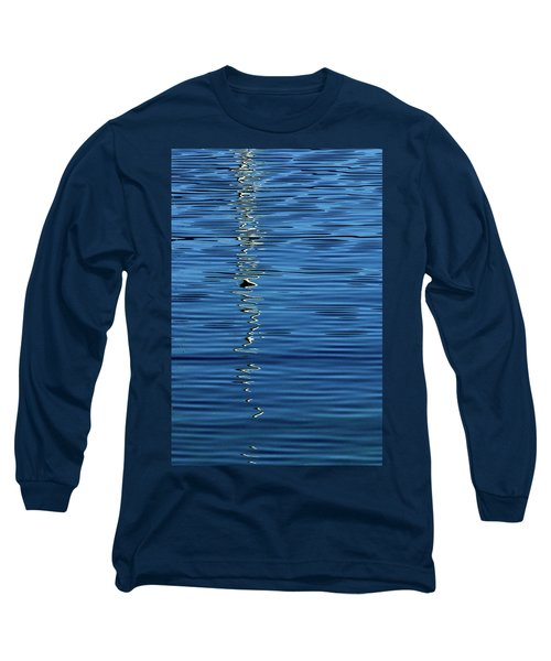 Black And White On Blue Long Sleeve T-Shirt