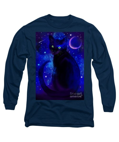 Long Sleeve T-Shirt featuring the painting Black Cat Blues  by Nick Gustafson