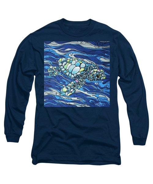 Black Contour Turtle Long Sleeve T-Shirt