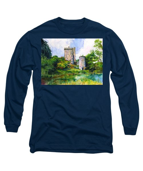 Blarney Castle Landscape Long Sleeve T-Shirt by John D Benson