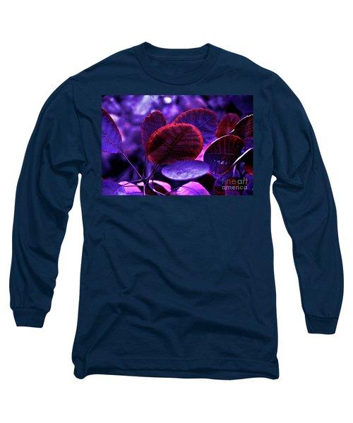 Bleeding Violet Smoke Bush Leaves - Pantone Violet Ec Long Sleeve T-Shirt