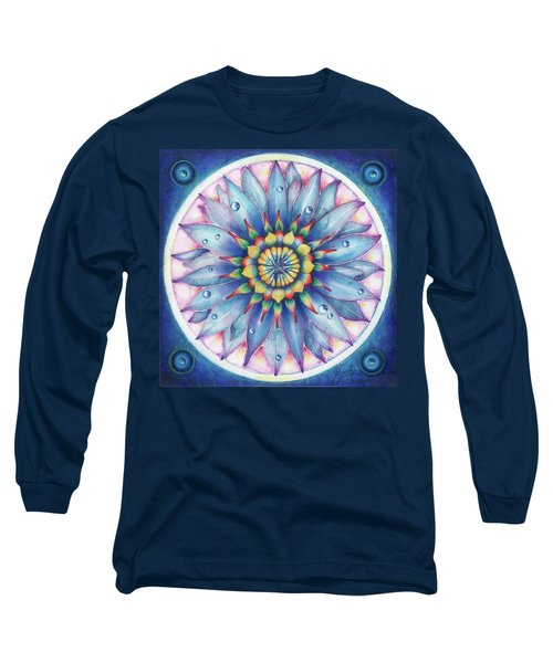 Long Sleeve T-Shirt featuring the painting Bloom Of Counsciousness by Anna Ewa Miarczynska