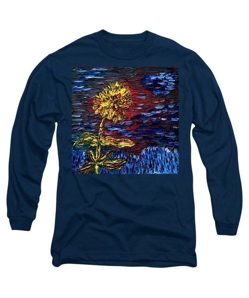 Long Sleeve T-Shirt featuring the painting Blossoming Soul by Vadim Levin
