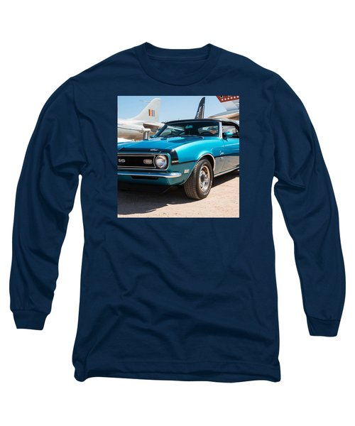 Blue 350 Chevy Camaro Ss Long Sleeve T-Shirt