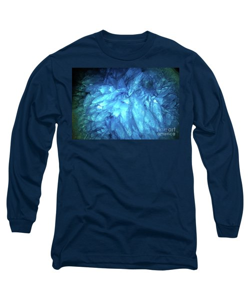 Long Sleeve T-Shirt featuring the photograph Blue Agate by Nicholas Burningham