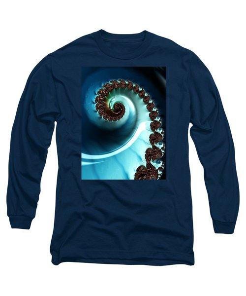 Blue Albania Long Sleeve T-Shirt